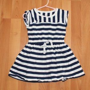Carter's Girls 2T Navy Blue & White Striped Dress